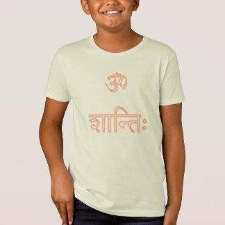 Om shanti Neonorange scherzt Bio T - Shirt