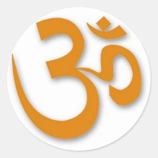 OM-Speicher für Yoga Runder Sticker