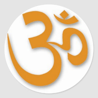 OM-Speicher für Yoga Runder Aufkleber