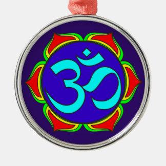 OM-Symbol heilige Buddhismusreligion Silbernes Ornament