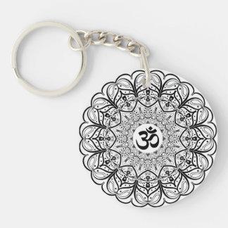 OM-Symbol-Mandala Keychain Schlüsselanhänger