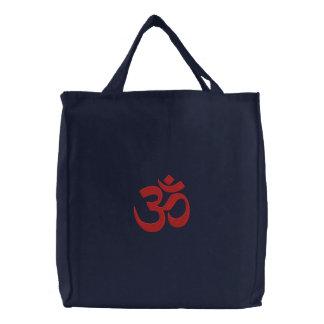 OM-Symbol-Spiritualität-Yoga-Stickerei Bestickte Tragetasche