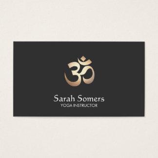 OM-Symbol-Yoga und Meditation elegant Visitenkarte