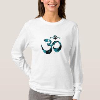 OM-Tarnung - Lang-Hülse YogaHoodie T-Shirt