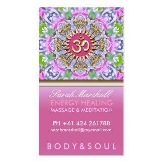 OM-Yoga-Energie-heilende rosa Schein-Visitenkarten
