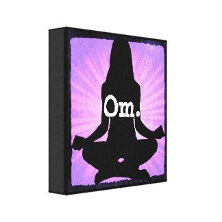 OM-Yoga-Meditationzen-Leinwand-Wand-Kunst Leinwanddruck