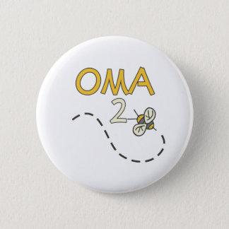 Oma 2 Biene Runder Button 5,7 Cm