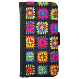 Oma-quadratischer Geldbörsen-Telefon-Kasten - iPhone 6/6s Geldbeutel Hülle