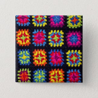 Oma-quadratischer Knopf - afghanischer Quadratischer Button 5,1 Cm