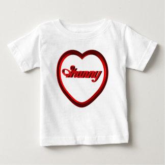 Oma-rotes Rahmen-Herz Baby T-shirt