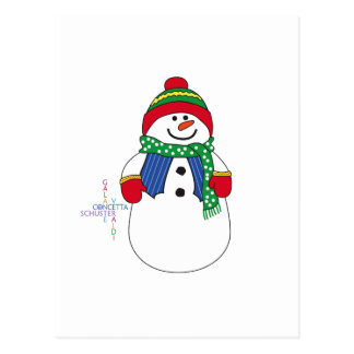 Oma Snowma Postkarte