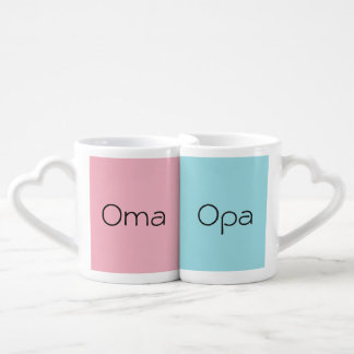 Oma und Opa ein Paar Kaffeetassen Liebestassen