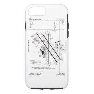 Omaha-Flughafen-Diagramm iPhone 8/7 Hülle