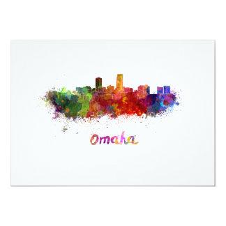 Omaha skyline im Watercolor Karte
