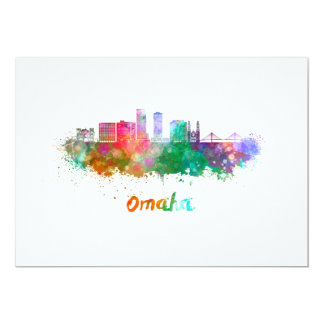 Omaha V2 skyline im Watercolor Karte