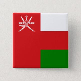 Oman-Flagge Quadratischer Button 5,1 Cm