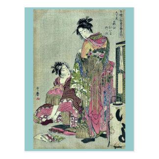 Omando ogie oiyo takej durch Kitagawa, Utamaro Postkarte