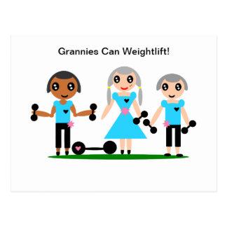 Omas machen Weightlift ein Postkarte