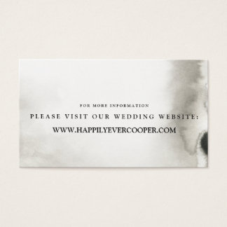 Ombre Aquarell-Hochzeits-Website kardiert | GRAU Visitenkarte