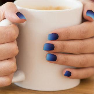 Ombre Blau Minx Nagelkunst