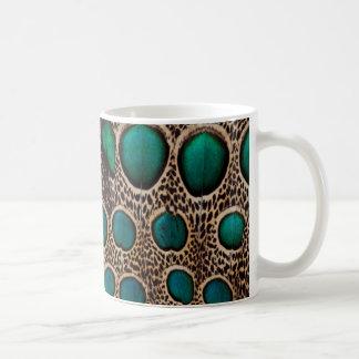 Ombre Pfau-Fasan-Federn Kaffeetasse