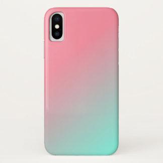 Ombre Rot zum blauen Telefon-Kasten iPhone X Hülle