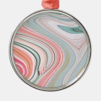 ombre tadelloser korallenroter rosa silbernes ornament