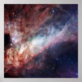 Omega-Nebelfleck ein Lichtblitz Poster