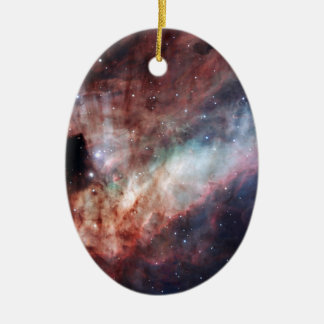 Omega- oder Schwan-Nebelfleck M17 Ovales Keramik Ornament