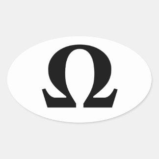 Omega, Symbol des Widerstand-Oval-Aufklebers Ovaler Aufkleber