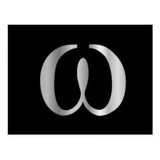 Omega-Symbol Postkarte