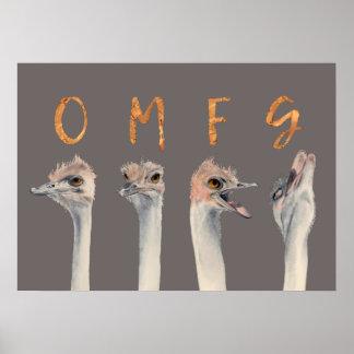 OMFG Sträuße Poster