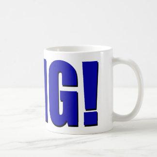 OMG! blau Kaffeetasse