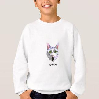 OMG! CAT 'was hat er gesehen? ' Sweatshirt