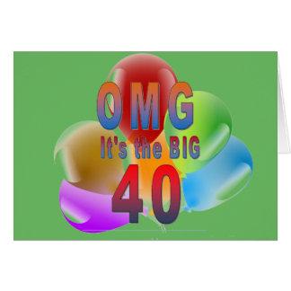 OMG das alles Gute zum Geburtstag große 40 Grußkarte