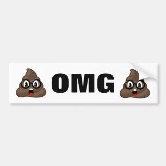 OMG kacken Emoji Autoaufkleber
