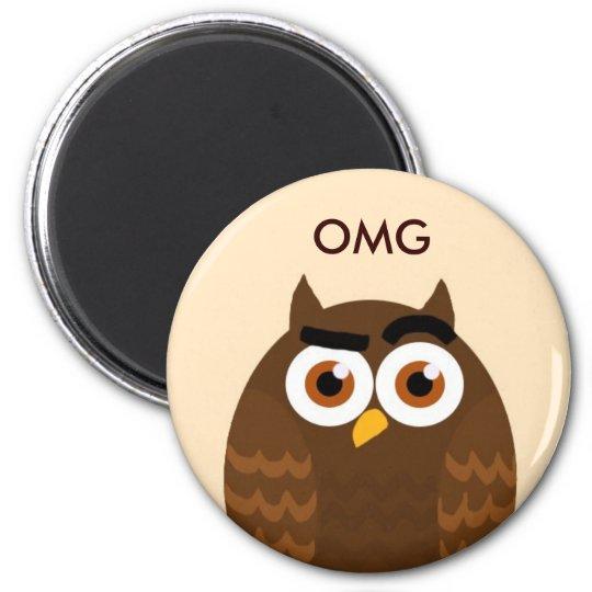 OMG Owl Magnet