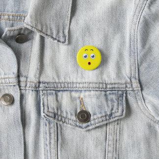 OMG überraschtes Emoji Runder Button 2,5 Cm