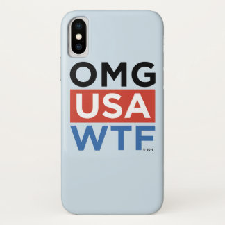 OMG USA WTF iPhone X HÜLLE