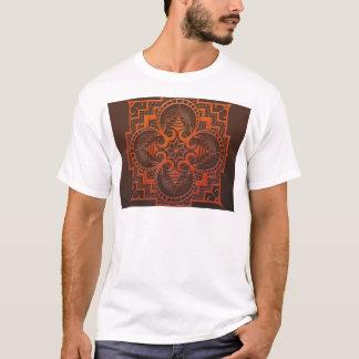 omjarah Holzschnitt-Mandala T-Shirt