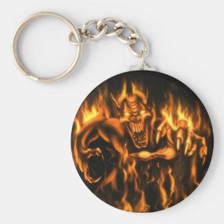 On Fire Keychain/Schlüsselanhänger Standard Runder Schlüsselanhänger