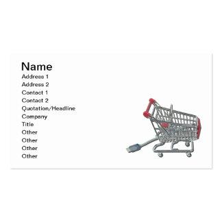On-line-Einkaufswagen-Kabel Visitenkarten