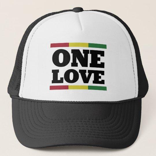 One love - Reggae - Rastafara Cap Truckerkappe