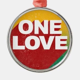 one love silbernes ornament