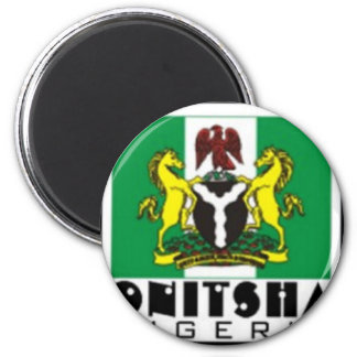 Onitsha, Nigeria-T - Shirt und usw. Runder Magnet 5,1 Cm