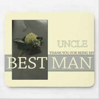 Onkel danken Ihnen Trauzeuge - Einladung Mauspad