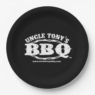 Onkel Tonys BBQ PapierTeller mit Logo