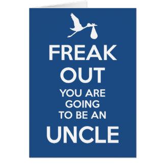 Onkel, zum Schwangerschafts-Mitteilungs-Karte zu Grußkarte