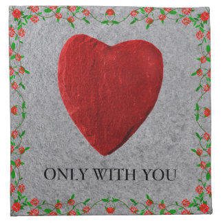 Only with you stoffserviette