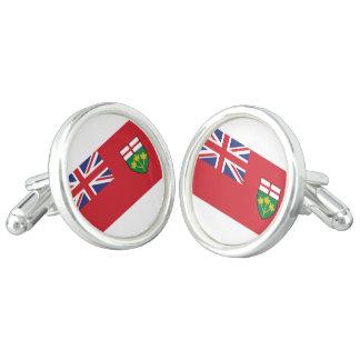 Ontario-Flagge Manschettenknöpfe